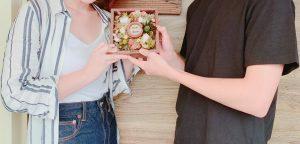 指輪の記念撮影